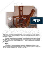 A serra hidráulica de Leonardo da Vinci