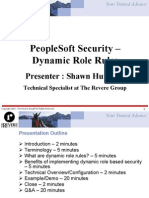 Dynamic Role Rule Security