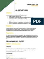 Cursos SQL Server 2008