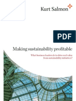 What makes sustainability profitable?