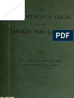 Taylor. The Oxyrhynchus logia and the apocryphal gospels. 1899.