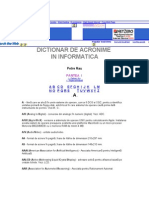 DICTIONAR DE ACRONIME
