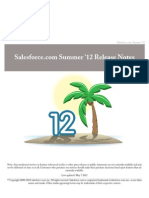 Sales Force Summer12 Release Notes