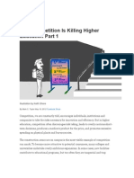 How Competition is Killing Higher Education Part 1