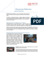 Managing Classroom Behavior
