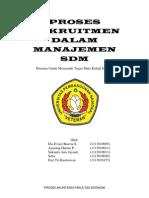 Proses Rekrutmen Dalam Manajemen Sdm