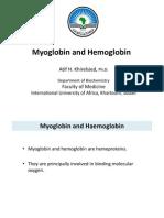 Hemoglobin and Myoglobin [2012]