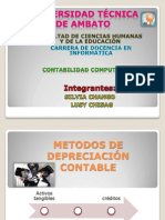 METODOS DE DEPRECIACIÓN CONTABLE