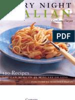 Easy Italian menu from Giuliano Hazan! Sausage Fusilli  and a delicious salad.