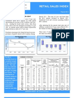 Retail Sales Index March 2012