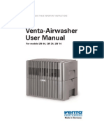 Venta Airwasher User Manual (LW 44, LW 24, LW 14)