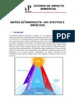 RAYOS ULTRAVIOLETA –UV EFECTOS E IMPACTOS