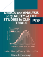 Design and Analysis of Quality of Life Studies