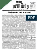 Neuer Vorwaerts - Sozialdemokratisches Wochenblatt 1933-06-18 - Nr. 01 (4 S., Scan)