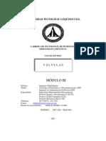 Valvulas Modulo III ingenieria quimica