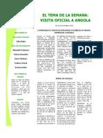 Tema de La Semana - Viaje Oficial a Angola