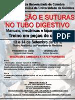 Dissecção e Suturas no Tubo Digestivo
