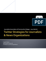 JACC 2011 -  Twitter Strategies for Journalists & News Organizations