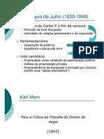 Monarquia de Julho (1830-1848)_Marx