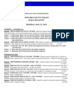 Police Daily Crime Bulletin 20120521