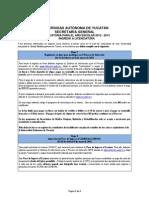 ConvocatoriaLicenciatura2012-2013 UADY