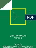 Sailor Rm2042 Operator Manual Vhf Dsc