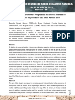 Diagnóstico, Monitoramento e Prognóstico das Chuvas Intensas