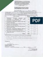 Performance Evaluation (ID, Arcki, Furn)