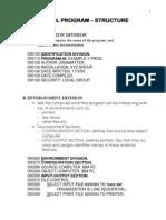 AP3 - Cobol - Week 01 - Program Structure