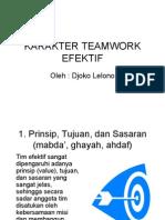 Karakter Teamwork Efektif