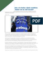 Facebook en La Bolsa de Valores de New York