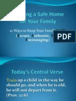 Creating a Safe Home - Mens Camp Interest Session