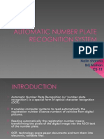 Vehicle Number Plate Recognition with Bilinear Interpolation