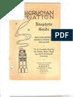 AMORC - Rosicrucian Initiation Neophyte Guide 1927