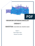 Grupo Modelo Trabajo Negocios Internacionales