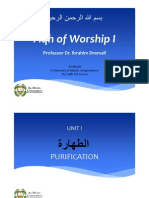 Summary of Islamic Jurisprudence - Taharah (Chap1-5)