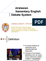 Austral Asian Parliamentary English Debate System