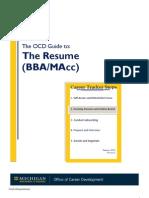 Resume Handout (BBA)