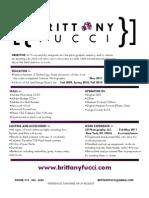 Brittany Fucci - Resume