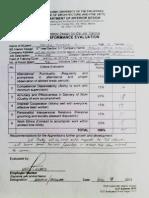 Evaluation Form - Furniture