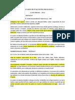 RESULTADOS DE EVALUACIÓN PSICOLÓGICA