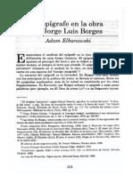 El epígrafe en la obra de Jorge Luis Borges b02544da8