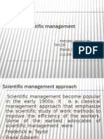 Copy of Scientific Management Approach