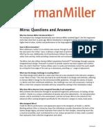 Herman Miller FAQ