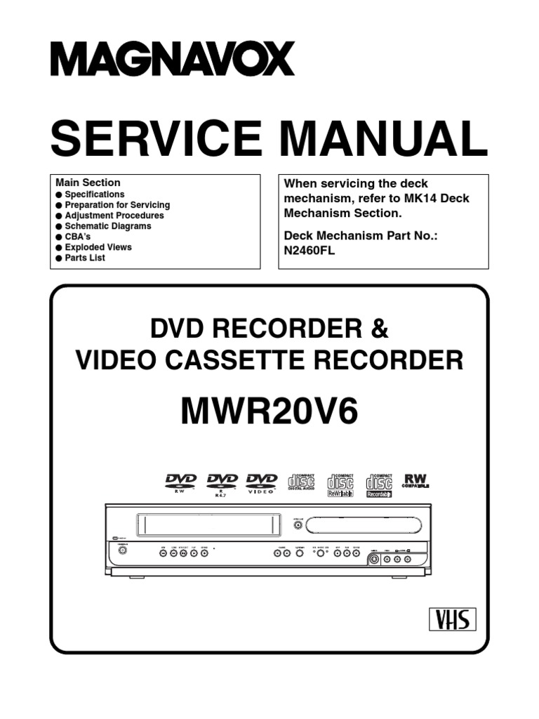 Magnavox+Mwr20v6+Service+Manual | Soldering | Electrical Connector