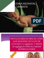 Hipoglucemia Neonatal Recurrente