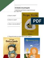 Atividades de Portugues - Felpo Filva