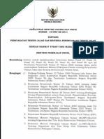 PerMen PU No 19/PRT/M/2011 Persyaratan Teknis Jalan Dan Kriteria Perencanaan Teknis Jalan