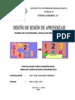 Diseño de Sesion de Clase 2011 - I