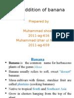 Banana Value Addition